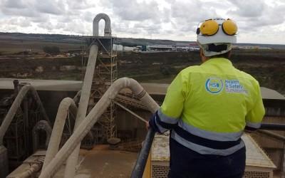 HSO ayuda a Votorantim Cimentos en el control de la seguridad en la obra de su fábrica de cementos de Niebla